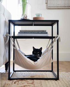 Cat Hammock - Places Like Heaven- Katzen-Hängematte – Places Like Heaven Cat Hammock cat hammock Diy Cat Hammock, Hammock In Bedroom, Diy Cat Bed, Hammock Ideas, Hammock Bed, Cat Room, Fabric Scraps, Scrap Fabric, Recycled Fabric