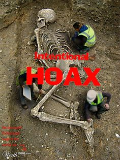"""Here's another """"giant skeleton"""" hoax from the worth1000.com contest site. This one has made the rounds as """"proof"""" of nephilim, Biblical giants, conspiracy, and anti-evolutionist anthropology. Nope. Proof of Photoshop. And this one didn't even win 1st prize."""