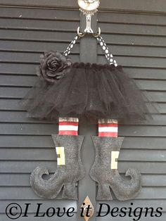 Witches+Legs+Burlap+Door+Hanger+by+ILoveItDesigns+on+Etsy,+$35.00