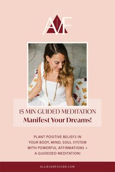 Ready to manifest your dreams? Join me for a guided meditation with powerful affirmations that'll plant positive beliefs in your body, mind, soul system. These affirmations will help you to believe in yourself as you say yes to manifesting your greatest desires & dreams! This is your time to craft your dream life, pin now & get cozy, grab your journal and meditation props as we draw inward and begin the manifestation journey! Allie, xx #chakras #manifestationmeditation #allievanfossen Manifestation Meditation, Chakra Meditation, Mindfulness Meditation, Guided Meditation, Bedtime Yoga, Meditation Videos, Gentle Yoga, Yoga At Home, Free Yoga
