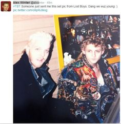 Photos from the Lost Boys set that Alex Winter has shared Lost Boys Movie, The Lost Boys 1987, I Movie, Scary Movies, Old Movies, Great Movies, Horror Movies, Best Vampire Movies, Alex Winter