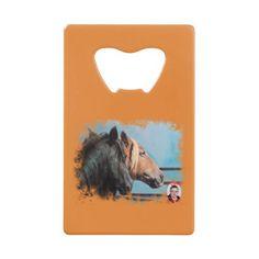 Horses/Cabalos/Horses Credit Card Bottle Opener - designs custom gift ideas diy