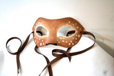 Deer Mask / Faun Fantasy Costume / Masquerade / by WhitefoxHats