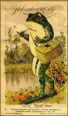 Vintage frog art