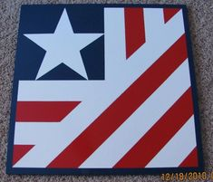 Custom Barn Quilt2'x2' American Flag by RemillardBarnQuilts