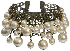 Armband Pearls and Tubes beige