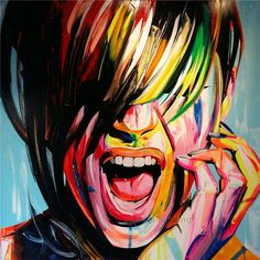 Find More Painting & Calligraphy Information about Face painting francoise Nielly oil painting caudros decoracion quadros wall art portrait… in 2019 Abstract Portrait Painting, Abstract Face Art, Portrait Acrylic, Figure Painting, Modern Oil Painting, Painting People, Pop Art Portraits, Portrait Art, Pop Art Face