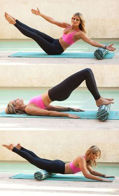 Fitness and alignment expert Lauren Roxburgh shares three ways that you can tone your body using a foam roller. | Health.com