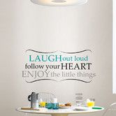 Found it at Wayfair - WallPops! Wall Art Kit Laugh Out Loud Wall Quote Decal