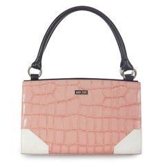Janine (Classic) - The Janine offers a stunning contrast between the edginess of faux leather croc texture and the sweetness of salmon-pink color. Janine is as at home on a date to the corner ice cream shop as she is at a springtime gallery opening. Ultra-chic white corner details give this Shell even more high-style flair.