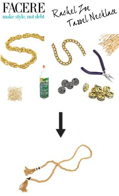 Loved Rachel Zoe's tassel necklace from the season 5 premiere? Make your own with this DIY - http://www.hithaonthego.com/farcere-rachel-zoe-tassel-necklace/