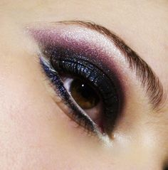Dark purple glitter eye make up #makeup #eyes #eyeshadow.  www.youravon.com/mkeller0001
