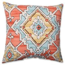 Sundance Tangerine Cotton Throw Pillow