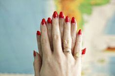half moon manicure - Google Search