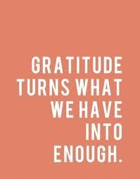 When we really, REALLY find gratitude in our heart....suddenly {there's ENOUGH} xx