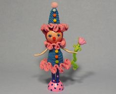 Cute Clothespin Dolls   Cute little Clown Clothespin Doll   Flickr - Photo Sharing!