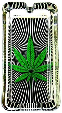 Everything Else Marijuana Weed RED Gold Green Round Glass Ashtray