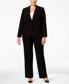 Tahari ASL Plus Size Bi-Stretch Jacket & Trousers - Suits & Suit Separates - Plus Sizes - Macy's