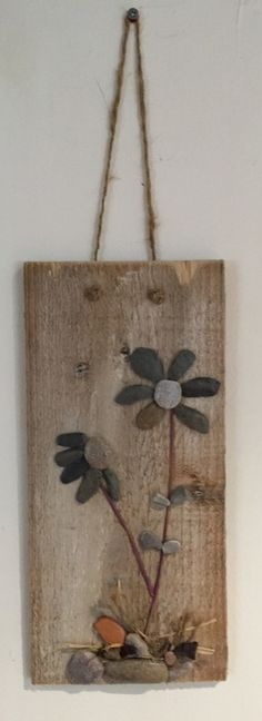 Hand Crafted Wooden Pebble Art Plaque £15.00