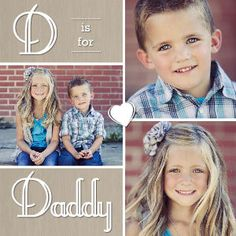 Mixbook D is for Daddy Father's Day Cards  Another site who has used our family photos in their card samples :).   So cool!!!!!!!!