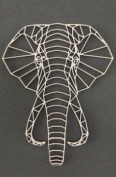 3d Zeichenstift, Stylo 3d, Elephant Artwork, Black Paper Drawing, Custom Metal Art, Geometric Drawing, Paper Crafts Origami, Geometric Decor, Scrap Metal Art