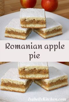Romanian apple pie (video recipe) - isabell's kitchen Best Breakfast Recipes, Brunch Recipes, Fall Recipes, Dessert Recipes, Desserts, Savoury Baking, Apple Pie Recipes, Sweet Tarts, Bon Appetit