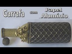 Garrafa decorada com papel alumínio - YouTube Bottle Painting, Bottle Art, Bottle Crafts, Altered Bottles Tutorial, Diy Tufted Headboard, Decoupage Glass, Recycled Bottles, Stone Art, Altered Art