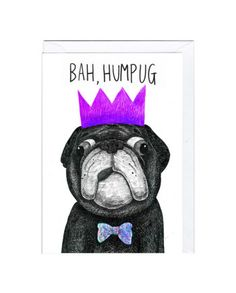 Bah Humpug Christmas Card  Designed by Jolly Awesome