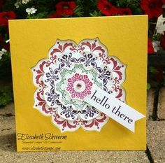 daydream medallions stampin up ideas | Elizabethstamps.com, Daydream Medallions, Stampin' Up