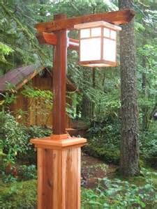 Wooden Lamp Post - Bing Images