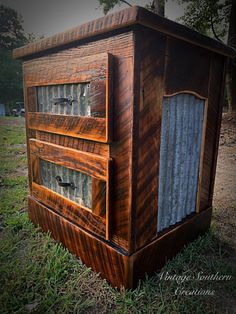 Rustic Farmhouse Furniture, Liquor Cabinet, Southern, Building, Vintage, Ideas, Home Decor, Decoration Home, Room Decor