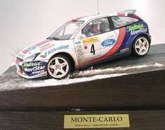 This diorama of the Ford Focus in action at the snowy Monte Carlo Rally was displayed at the Tokyo Hobby Show.