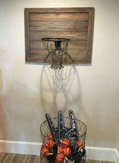 Boys playroom Rustic Basketball Hoop Playroom Boy Room Room Basketball Room Tiny Room Converts to Bi Game Room Decor, Boys Room Decor, Bedroom Decor, Boys Room Ideas, Bedroom Ideas, Sports Room Decor, Boys Room Design, Kids Sports Bedroom, Gameroom Ideas
