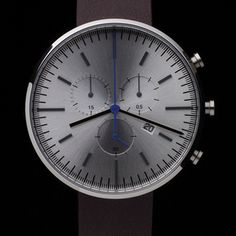 Primary photograph of product '300 Series (Brushed Steel / Mahogany Leather)'