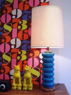 Vintage lamp and foo dog vignette - Arren Williams Design Lab