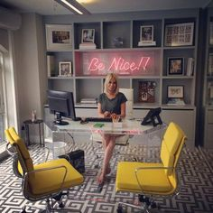 Caroline Stanburyu0027s Office. Love The Yellow Accents.  #InteriorWindowTrimOptions