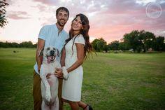 photo by laurenmoffettphoto.com , family portrait , engagement photo , couple with dog