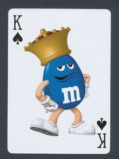 M&M's candy crown playing card single swap king of spades - 1 card Candy Crown, Penny Table, M&m Characters, King Of Spades, M M Candy, Melt In Your Mouth, Deck Of Cards, Ms, Playing Cards