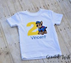 Paw Patrol Birthday Shirt by GrantedWishDesignCo on Etsy