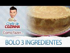 - Aprenda a preparar essa maravilhosa receita de BOLO DE 3 INGREDIENTES SUPER FOFINHO E FÁCIL DE FAZER