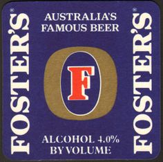 Foster's Beer The Fosters, Sous Bock, Beer Coasters, Alcohol, Beer Labels, Wine, My Favorite Things, Cool Stuff