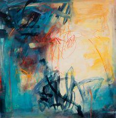 "Celebration, Sally Cooper, 40"" x 40"", acrylic on canvas,"