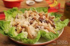 Receita de Salada caesar com frango em receitas de saladas, veja essa e outras receitas aqui!