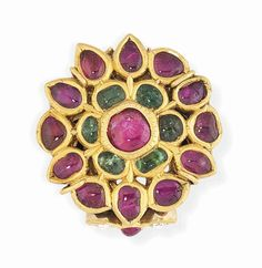 A large ruby and emerald-set ring India, 19th century #christiesjewels
