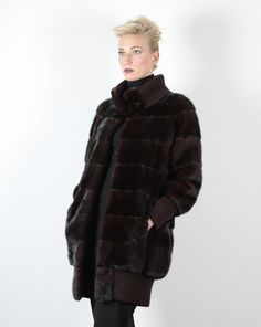 Pelliccia di visone mogano - Compel Brescia - collezione pellicce inverno 2015/16