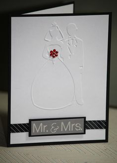 One Handmade Wedding Card Mr. & Mrs. Wishing You a Lifetime of Love and Laughter on Etsy, $3.00