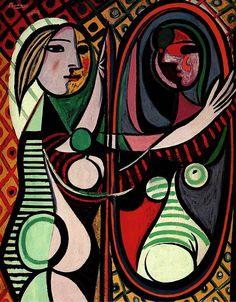 mulher no espelho, by Pablo Picasso