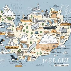 Sneak peek at my Iceland map #iceland #sketchbook available soon. Email me.