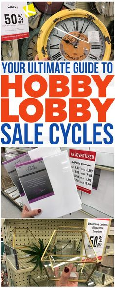 Your Ultimate Guide To Hobby Lobby Sale Cycles . Hobby Lobby's sales might seem random, but they're not. Use this guide to know when to buy, when to when to wait, & when to ignore the sale price & use your off Hobby Lobby coupon instead .