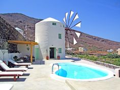 Check out this awesome listing on Airbnb: The Green Windmill in Thira